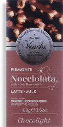 Milk Chocolate Hazelnut Bar Light Venchi 100 g