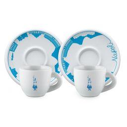 Xícara Com Pires Espresso Set 2 Porcelana Napoli 80 mL