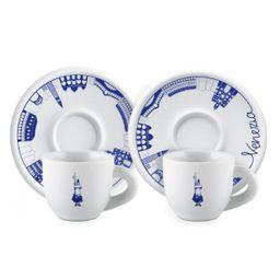 Xícara Com Pires Espresso Set 2 Porcelana Venezi 80 mL