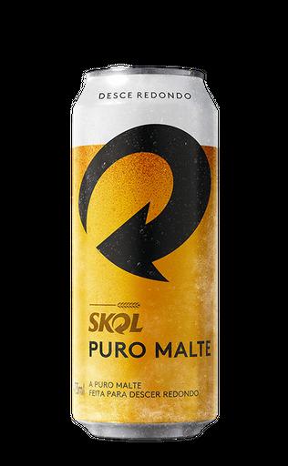 Cerveja Skol Puro Malte 473 ml Lata
