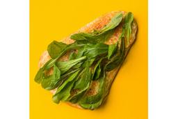 Pizza de Rúcula - Pedaço