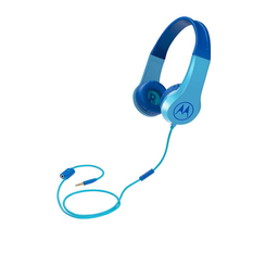 Fone De Ouvido Motorola Squad 200 Kids Com Fio Azul