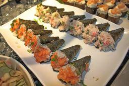 Mini temaki de salmão 5 unidades