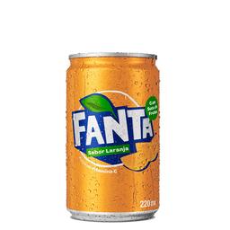 Mini lata fanta laranja 220 ml
