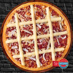 Pizza de Carne Seca com Catupiry - Média