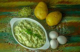 Maionese cremosa de batatas