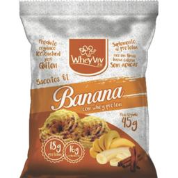 Biscoito De Banana Canela Whey 45 g