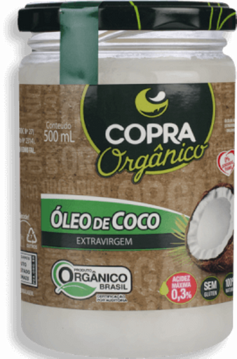 Óleo De Coco Extra Virgem Org 500 mL