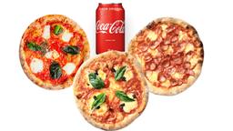 3 Pizzas + Coca-Cola