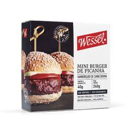 Hambúrguer Blend Mini Picanha Wessel 240 g - 303316