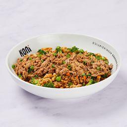 Arroz asiático carne suína