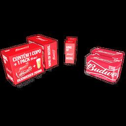 Budweiser Kit Cervejas + Um Copo Exclusivo