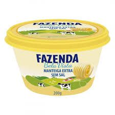 Manteiga Extra Sem Sal Fazenda Bela Vista 200 g