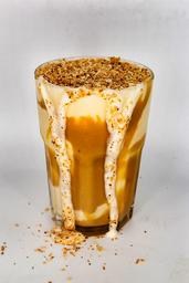 Milk Shake Doce De Leite Com Coco Queimado