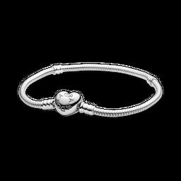 Bracelete Pandora com Fecho de Coracao