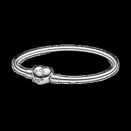 Bracelete Pandora Rigido   Fecho Coracao