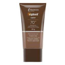 Episol Protetor Solar Facial Efeito Base Pele Morena Fps 70