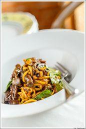 Spaghetti Alla Chitarra con Secoe, Zuca e Crescione