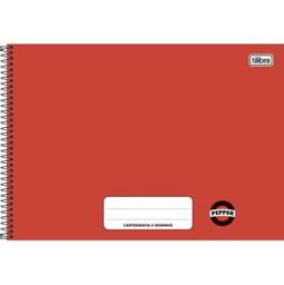 Caderno Cartografia Desenho Cd 80 Folhas Vermelho