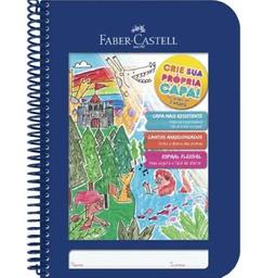 Caderno Criativo Azul 96 Folhas Faber