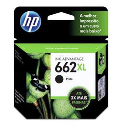 Cartucho De Tinta HP 662 Xl Cz105Ab 6.5 mL Preto Hp