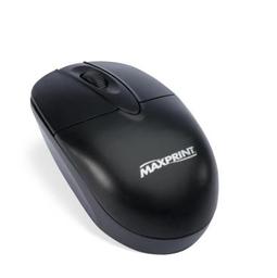 Mouse USB Preto 606071 Maxprint