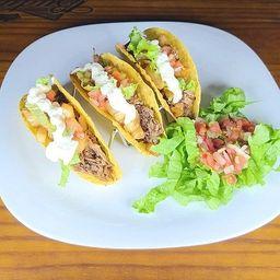 Tacos de Pernil (3 unidades)
