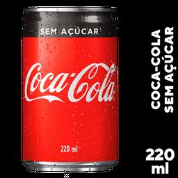 Refrigerante Coca Cola Zero Açúcar Lata 220 mL