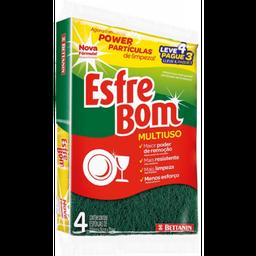 Esponja Esfrebom Com 4 Und