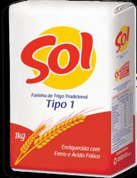 Farinha De Trigo Sol Tradicional 1 Kg