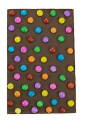 Barra De Chocolate Ao Leite Com Confetis The Goodies 125 g