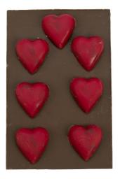 Barra De Chocolate Ao Leite Com Coracões The Goodies 125 g