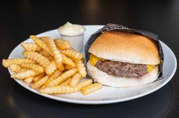 Combo cheddar burger