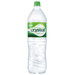 Água crystal com gás