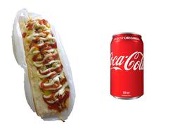 Combo Hot Dog + Coca-Cola