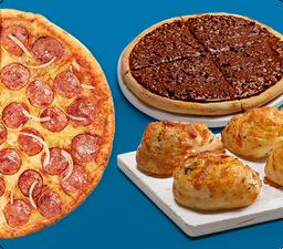 Combo Família Pizza Média com Alho Roll e Ovomaltine RAPPIMED