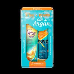 8% em 3 Unid Novex Kit Shampoo Revitay Cond Argan