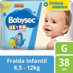 Fralda Desc Babysec Galinha Pintadinha Ultrasec Mega G 38 Und