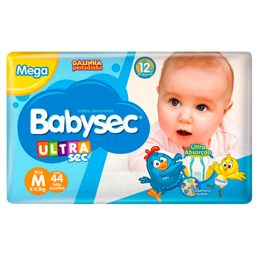 Fralda Desc Babysec Galinha Pintadinha Ultrasec Mega M 44 Und