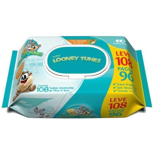 Looney Tunes Toalha Umedecida 96 +12 Grátis