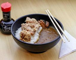 Curry japonês kara-ague + combo