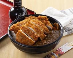 Curry japonês com kara-ague em dobro + combo