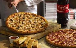 2 Pizzas  Grandes salgadas 1 ou  2 sabores + Refrigerante 2L