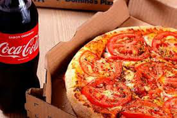 1 Pizza Grande salgada 1 ou  2 sabores + Refrigerante 600ml