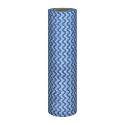 Rolo De Pano Para Limpeza Geral Viscose Azul Flashlimp 25 Und