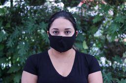 Máscara De Tecido Sem Elástico Preta