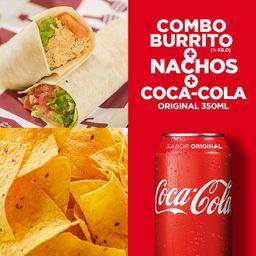 Combo burrito + nachos + molho + refri