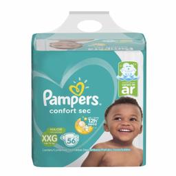 Fralda Pampers Confortsec Super Xxg Com 56 Und