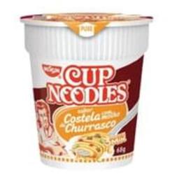 Cup Noodles Macarrão Costela Com Molho de Churrasco