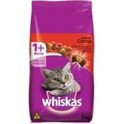 Ração Whiskas Carne Gatos Adultos 3 kg